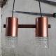 2 cylinderlamp koper met glas