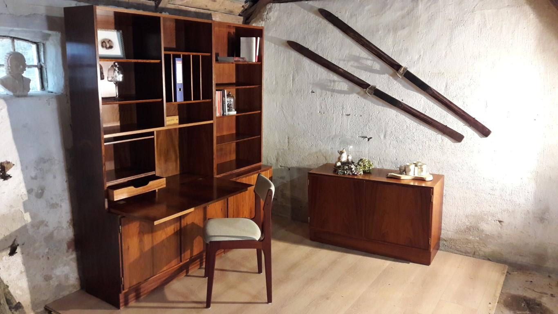 Wandmeubel Met Bureau.Verkocht Wandmeubel In Palissander Van Hundevad Ulfborg