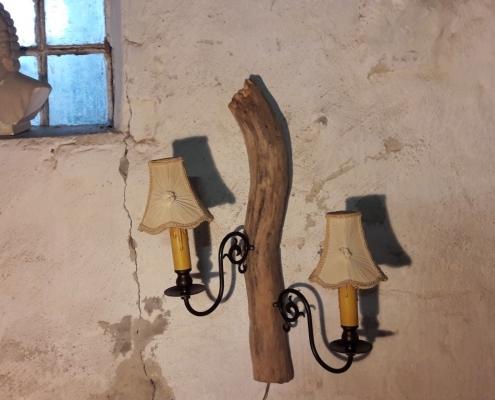driftwood wandlamp